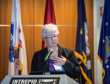 Paulette Dalpes, Deputy to the Vice Chancellor for Student Affairs at the USS Intrepid Sea Air Space Museum