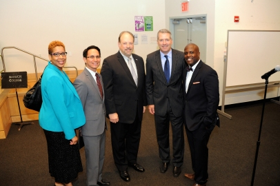 Professor Patrick Baruch College, Vice Chancellor Sanchez, President Wallerstein Baruch College, Chancellor Milikin, Jermaine Wright- Interim University Director CUNY BMI